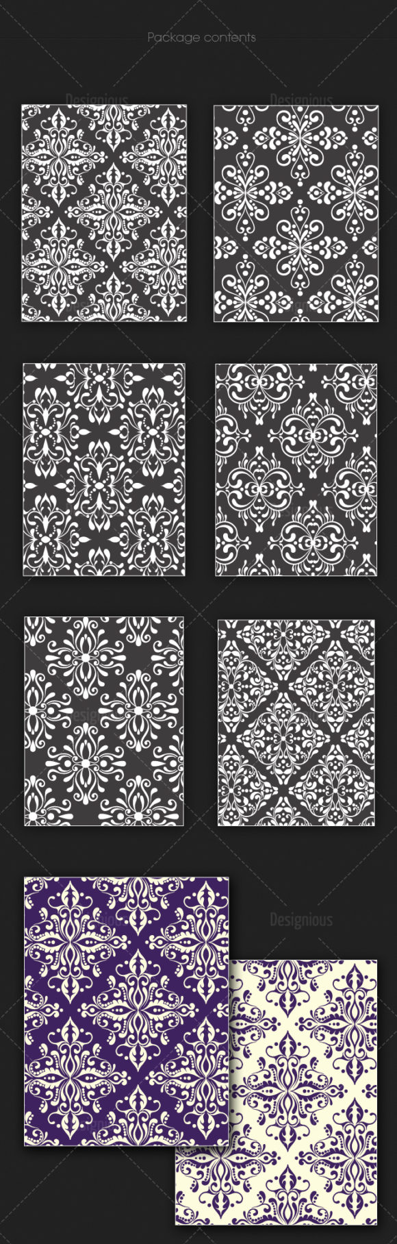 Seamless Patterns Vector Pack 126 products seamless patterns vector pack 126 large