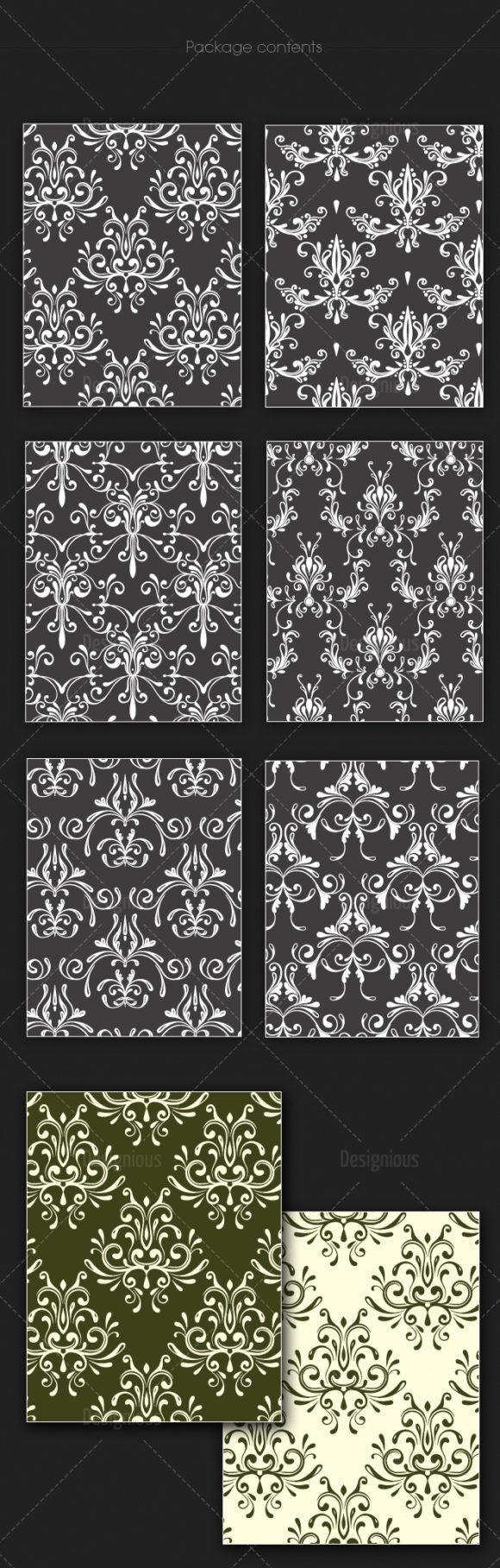 Seamless Patterns Vector Pack 128 6