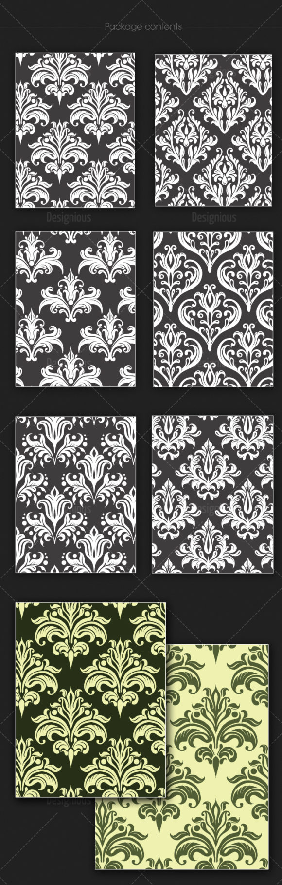 Seamless Patterns Vector Pack 133 6
