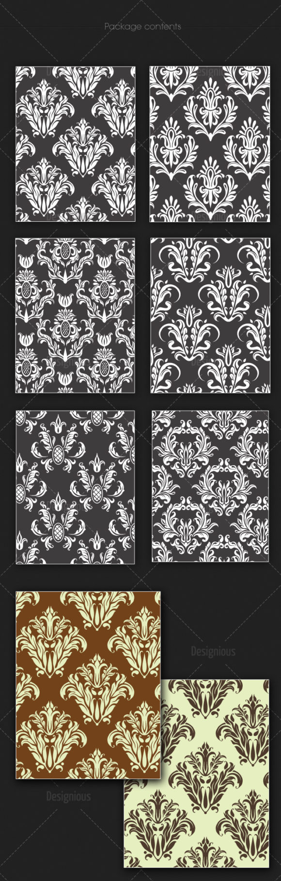Seamless Patterns Vector Pack 134 6