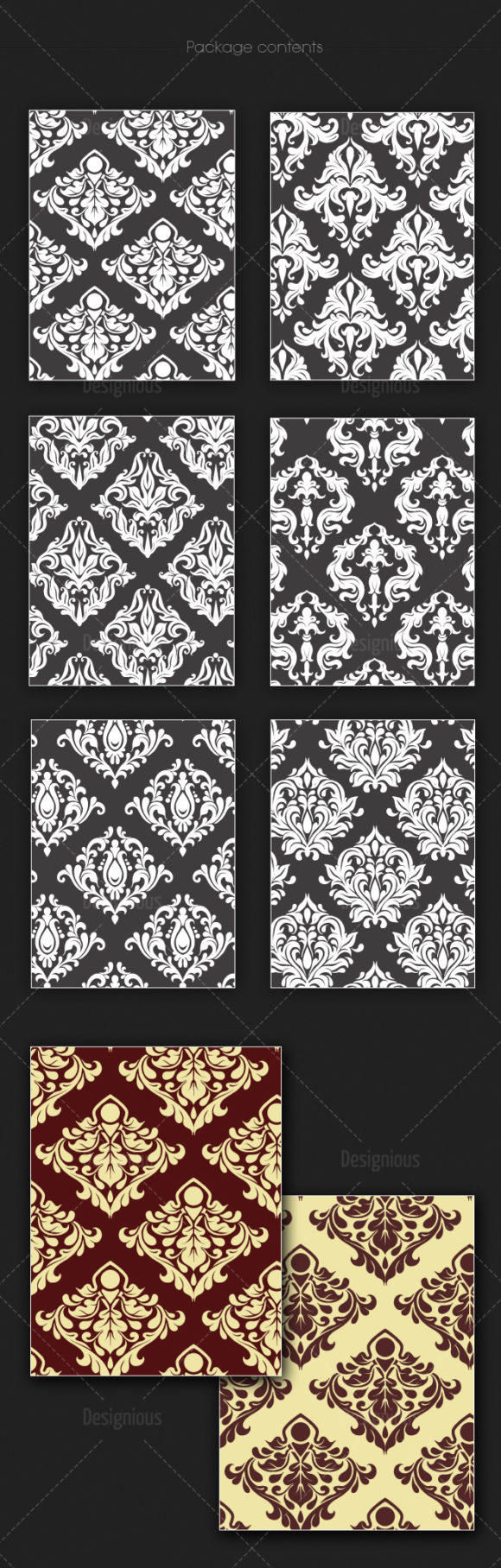 Seamless Patterns Vector Pack 135 6