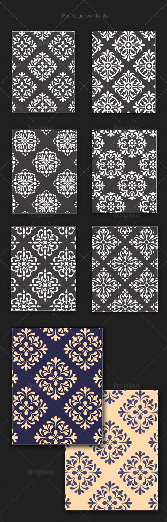 Seamless Patterns Vector Pack 137 products seamless patterns vector pack 137 large