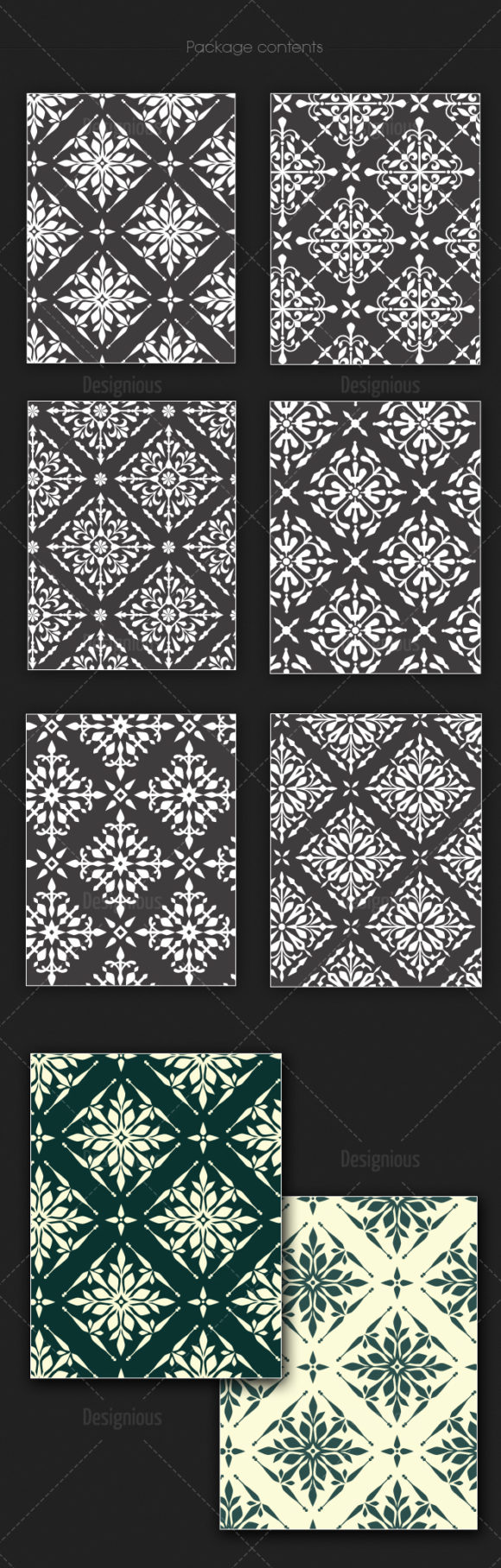 Seamless Patterns Vector Pack 139 6