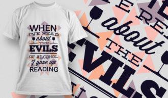 T-shirt Design 659 T-shirt Designs and Templates vector