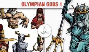 Greek Mythological Olympian Gods Vector Pack 1 Religion [tag]