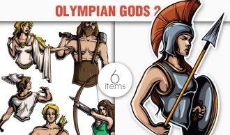 Greek Mythological Olympian Gods Vector Pack 2 Religion [tag]