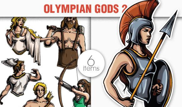 Greek Mythological Olympian Gods Vector Pack 2 5
