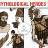 Greek Mythological Creatures Vector Pack 2 products designious vector heroes 1 small