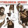 Greek Mythological Heros Vector Pack 1 3