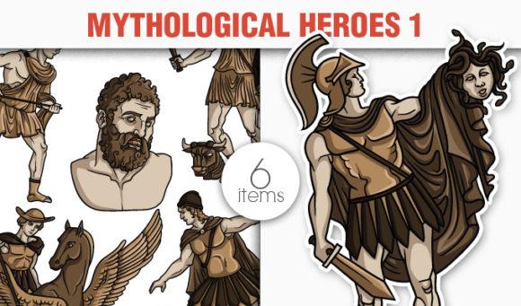 Greek Mythological Heros Vector Pack 1 5