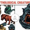 Greek Mythological Creatures Vector Pack 1 1