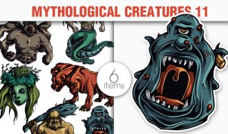 Greek Mythological Creatures Vector Pack 1 Religion [tag]