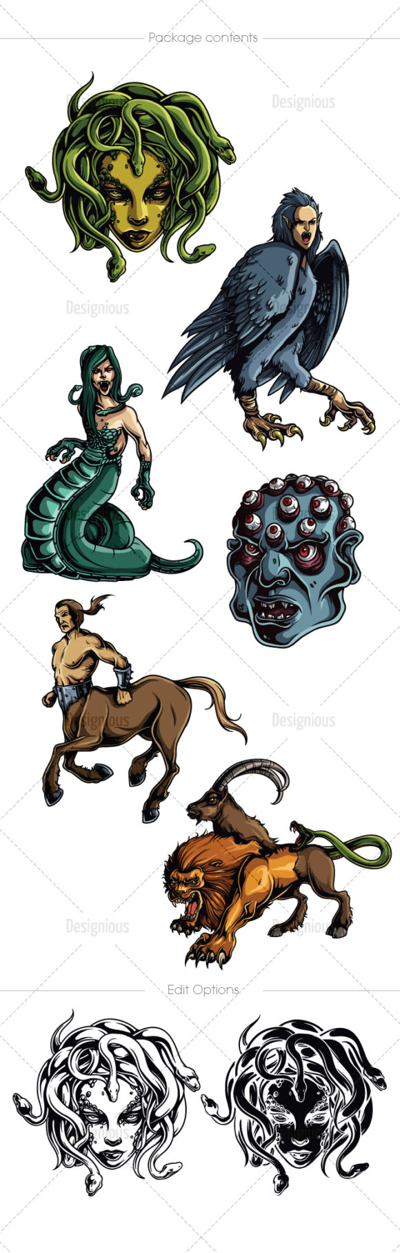 Greek Mythological Creatures Vector Pack 2 products designious vector mythic creatures 12 large