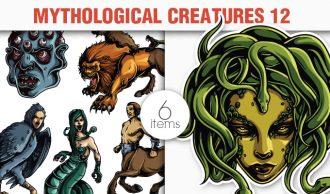 Greek Mythological Creatures Vector Pack 2 Religion [tag]