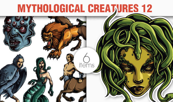 Greek Mythological Creatures Vector Pack 2 products designious vector mythic creatures 12 small
