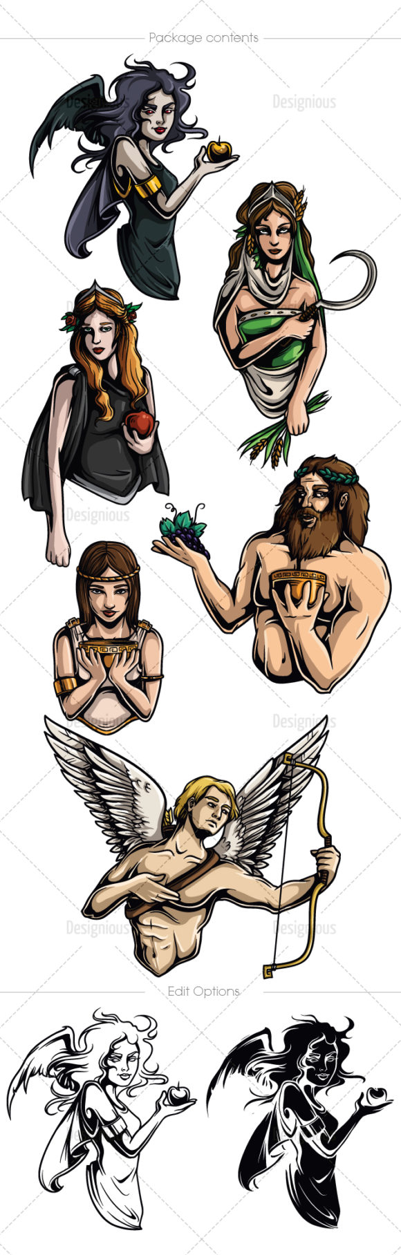 Greek Mythological Other Gods Vector Pack 1 products designious vector other gods 1 large