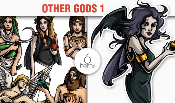 Greek Mythological Other Gods Vector Pack 1 products designious vector other gods 1 small