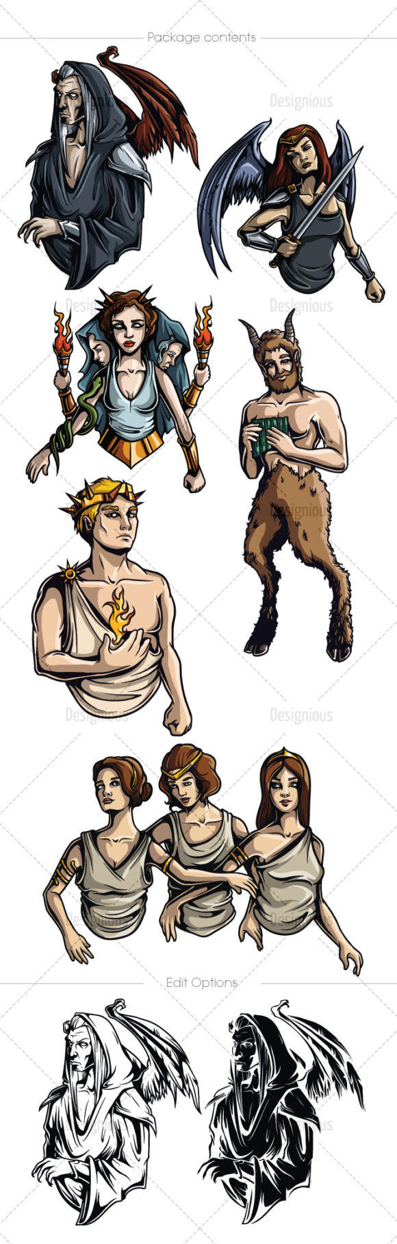 Greek Mythological Other Gods Vector Pack 2 products designious vector other gods 2 large