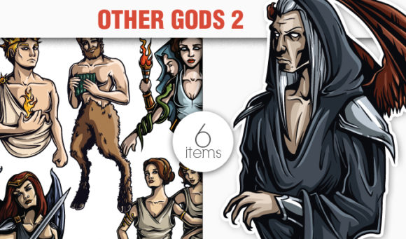 Greek Mythological Other Gods Vector Pack 2 products designious vector other gods 2 small