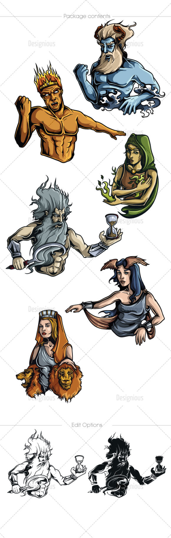 Greek Mythological Titans Vector Pack 1 products designious vector titans 1 large