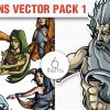 Greek Mythological Other Gods Vector Pack 2 products designious vector titans 1 small 1