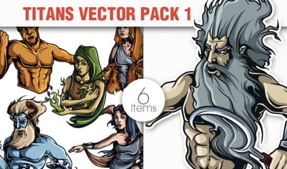 Greek Mythological Titans Vector Pack 1 products designious vector titans 1 small 1