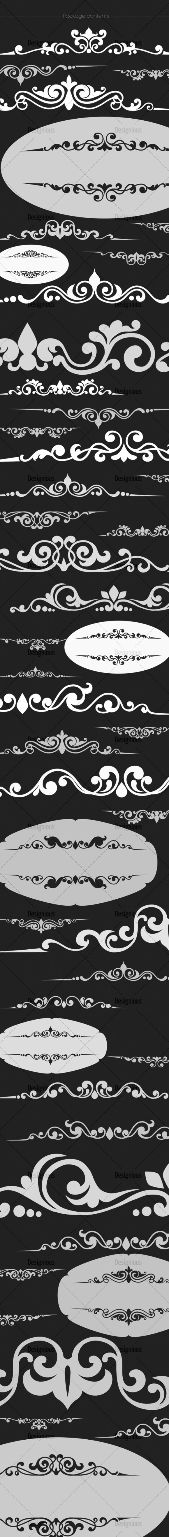 Ornamental Floral Brushes Pack 56 Floral brushes [tag]