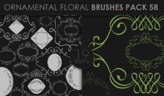 Ornamental Floral Brushes Pack 58 Floral brushes [tag]
