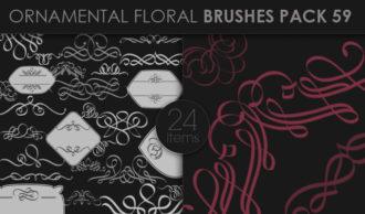 Ornamental Floral Brushes Pack 59 Floral brushes [tag]