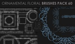 Ornamental Floral Brushes Pack 60 Floral brushes [tag]
