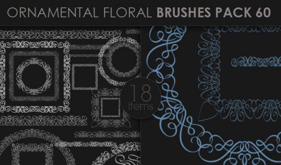 Ornamental Floral Brushes Pack 60 Floral brushes [tag]