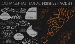 Ornamental Floral Brushes Pack 61 Floral brushes [tag]