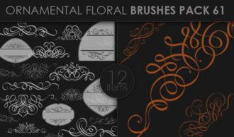 Ornamental Floral Brushes Pack 61 Floral brushes [tag]