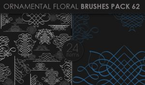 Ornamental Floral Brushes Pack 62 Floral brushes [tag]