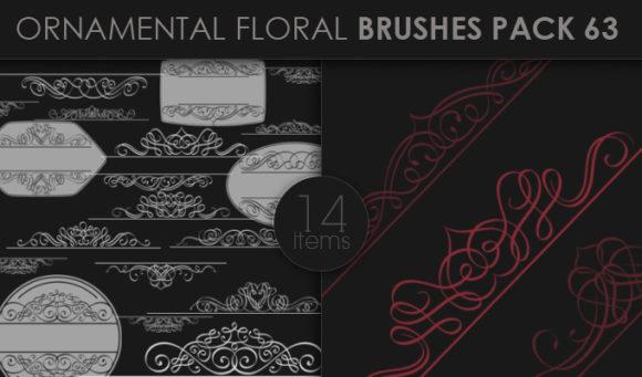 Ornamental Floral Brushes Pack 63 Floral brushes [tag]