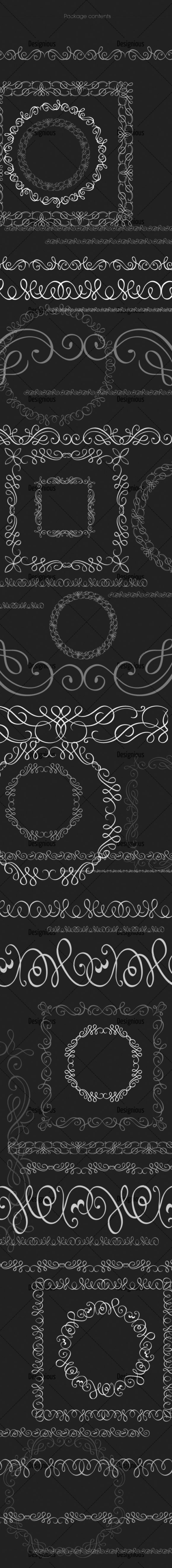 Ornamental Floral Brushes Pack 64 Floral brushes [tag]