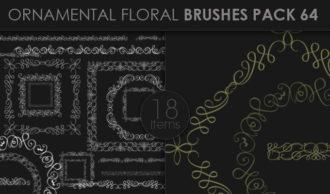 Ornamental Floral Brushes Pack 64 Floral brushes [tag]