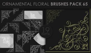 Ornamental Floral Brushes Pack 65 Floral brushes [tag]