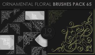 Ornamental Floral Brushes Pack 65 Floral brushes [tag]