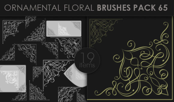 Ornamental Floral Brushes Pack 65 products designious brushes ornamental 65 small
