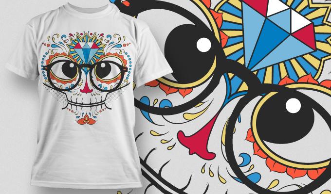 T-shirt Design 671 T-shirt designs and templates vector