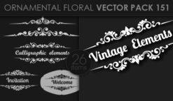 Ornamental Floral Vector Pack 151 Floral [tag]