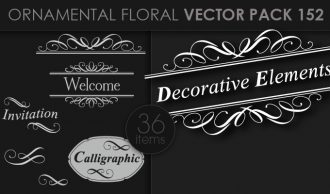 Ornamental Floral Vector Pack 152 Floral [tag]