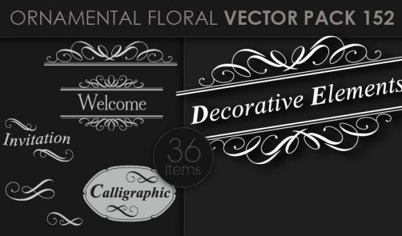 Ornamental Floral Vector Pack 152 5