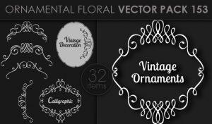 Ornamental Floral Vector Pack 153 Floral [tag]