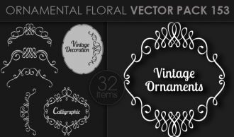 Ornamental Floral Vector Pack 153 Floral [tag]