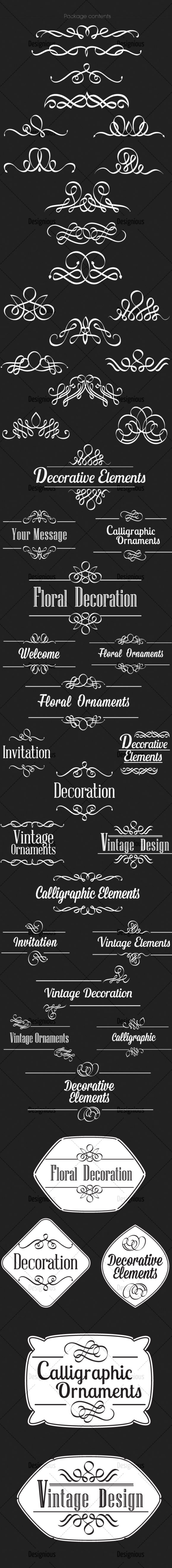 Ornamental Floral Vector Pack 154 products designious vector ornamental 154 large