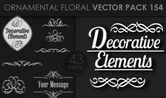Ornamental Floral Vector Pack 154 Floral [tag]