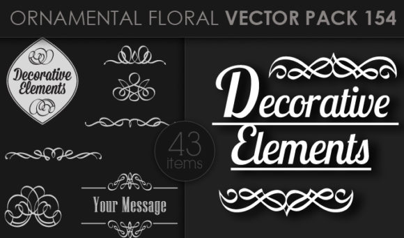 Ornamental Floral Vector Pack 154 products designious vector ornamental 154 small