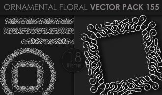 Ornamental Floral Vector Pack 155 Floral [tag]